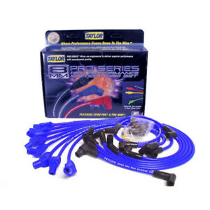 Taylor Spark Plug Wire Set 74658 Spiro Pro 8mm Blue 135 Hei male For Ford V8