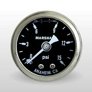 Marshall Fuel Pressure Gauge Ms00015 0 To 15 Psi 1 1 2 Full Sweep Mechanical