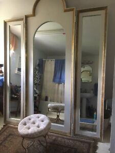Vintage Tri Fold Full Length Mirror Large