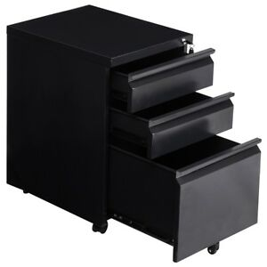 A4 Drawers Black Steel Rolling Storage File Cabinet Office Storage Equipment