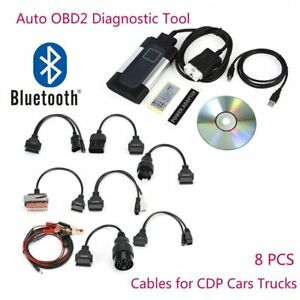 2017 Bluetooth Tcs Cdp Pro Plus For Obd2 Diagnostic Tool 8pcs Car Cables Hx