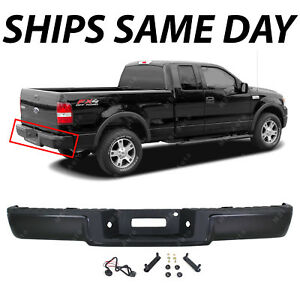 New Primered Complete Rear Steel Bumper Assembly For 2006 2008 Ford F150 F 150