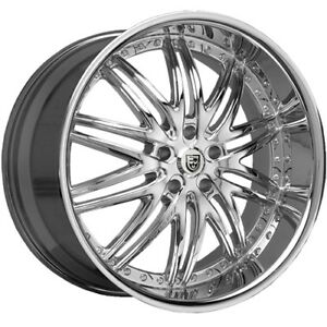 20 X10 Lexani Lx 10 630c Chrome 5x4 75 15 Et 630 2010 61 15c Rims Wheels