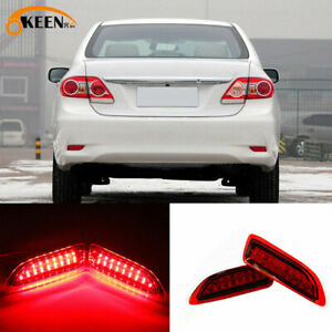 Led Rear Bumper Reflector Brake Lights Set For Toyota Corolla Lexus 2011 2013