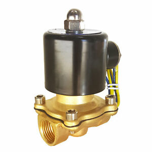 Hfs r 12v Dc 1 2 Electric Solenoid Valve Water Air Gas Fuels N c