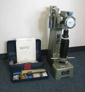 Sato Hardness Tester Rockwell Type Model 3r Never Used Made In Japan