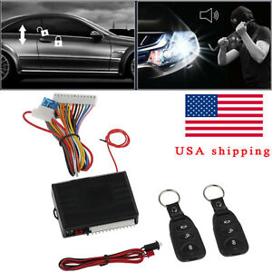 Universal Car Door Lock Central Kit Vehicle Keyless Entry System Remote Control