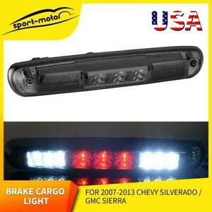 For 07 13 Silverado Gmc Sierra 1500 2500 3500 Smoke Led 3rd Brake Light Lamp Us