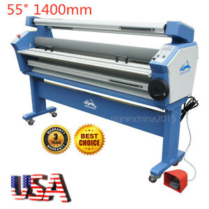 Usa 110v 55 Full auto Low Temp Heat Assisted Wide Format Cold Laminator stand