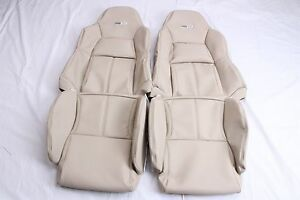 Custom Made 1994 1996 Corvette C4 Leather Seat Covers For Standard Seats Beige