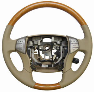 2005 2007 Toyota Avalon Steering Wheel Ivory Tan Leather W wood New 4510007291a0
