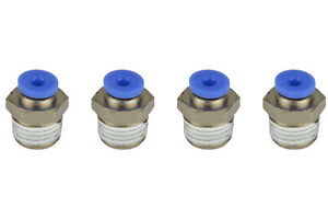 4x Temco Pneumatic Air Quick Push To Connect Fitting 1 4 Npt To 1 8 Hose Od
