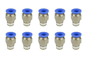 10x Temco Pneumatic Air Quick Push To Connect Fitting 1 4 Npt To 3 8 Hose Od