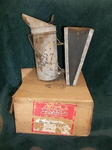 Vintage Root Quality Bee Supplies Bee Smooker With Box