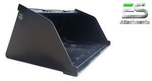 Es 72 Snow mulch dirt gravel Bucket For Skid Steer Quick Attach Local Pick Up