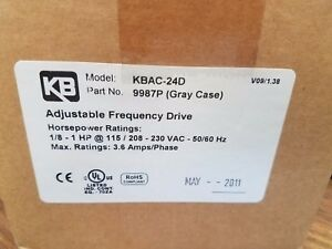 Kb Electronics Kbac 24d Part No 9987 Gray Case Adjustable Frequency Drive