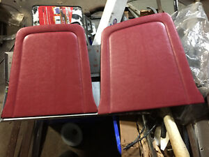 1965 1967 Ford Mustang Front Bucket Seat Panel Back Inserts Pair