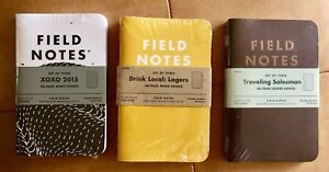 Field Notes Lot Limited Edition Xoxo Drink Local Traveling Salesman