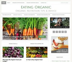 Organic Foods Turnkey Website Business For Sale With Auto Updating Content