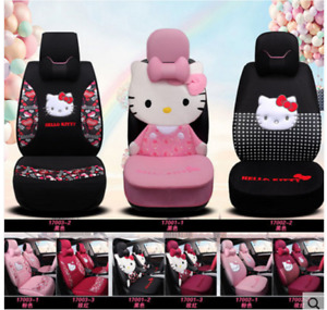 New Hello Kitty Car Seat Cover Steering Wheel Headrest Fashion Models