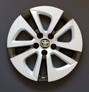 One New Wheel Cover Replacements Fits 2016 2017 Toyota Prius 15 Silver Black