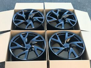 19 Nissan 370z Forged Rays Oem Factory Black Wheels Rims