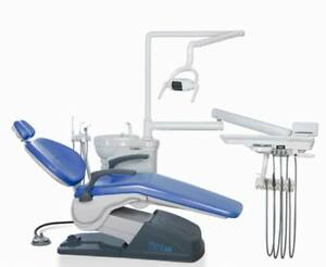 usa Stock tuojian Tj2688 A1 Dental Unit Chair Sky Blue Hard Leather M4 110v Fda
