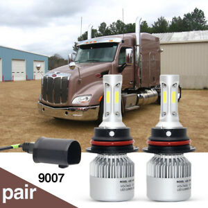 2x 9007 hb5 Led Headlight Bulbs Kit 2000 2016 For Peterbilt Pete Lamps Hid Xenon