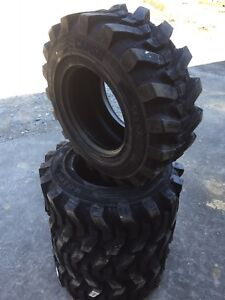 4 New Hd 14 17 5 Camso Sks532 Skid Steer Tires For Bobcat 14x17 5 14 Ply Rating