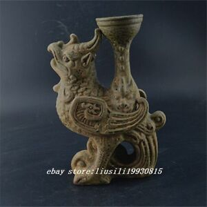 China Old Antique Song Kylin Candlestick Porcelain