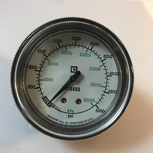 Vtg Brass Cat Caterpillar 7s8880 Kpa Pressure Gage Gauge