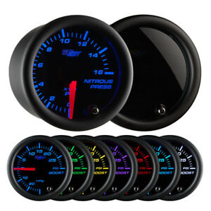 Glowshift Tinted 7 Color Nitrous Pressure Gauge Glow Shift Gs t714