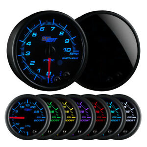 Glow Shift Tinted 7 Color 3 3 4 In dash Tachometer Gauge Glowshift Gs t716