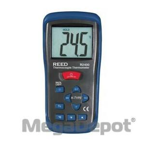 Reed R2400 Type K Thermocouple Thermometer 58 To 2000 F