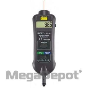 Reed R7150 nist Contact Non contact Laser Photo Tachometer W Nist