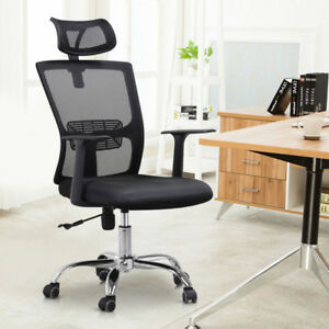 High Back Mesh Office Chair Adjustable Swivel Computer Desk Task Chair Chrome