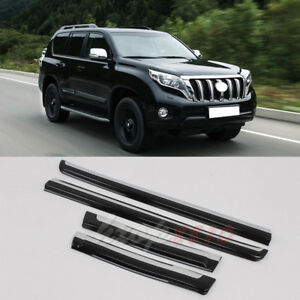 4pcs For Toyota Land Cruiser Prado Side Door Body Molding Trim Abs 2010 2017