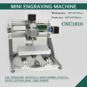 1610 Pcb Milling 3 axis Cnc Router Mini Wood Carving Machine