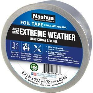 Nashua 50 Yd 330x Extreme Weather Insulation Patch Repair Seal Hvac Foil Tape