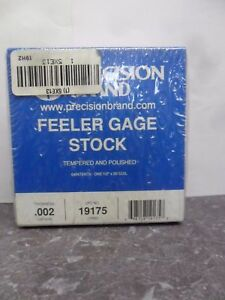 New Precision Brand 19h2 19175 Feeler Gage Stock Nib