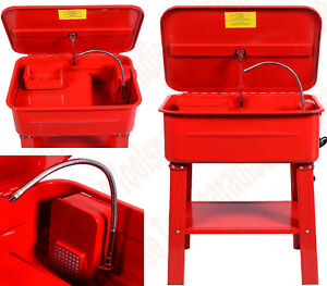 Auto Parts Tools Cleaner Washer Tank Cabinet With 110v Electric Pump 20gal