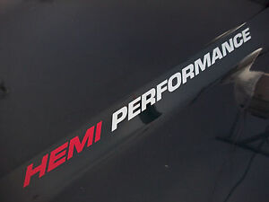 Hemi Performance Pair Dodge Ram 1500 Truck Hood Decals Emblem 2003 5 7l V8