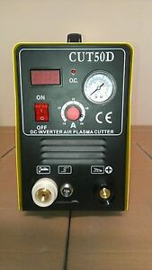 Cal Electric Plasma Cutter New 50amp Cut50d Digital Inverter And 80 Consumables