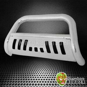 3 Round Chrome S S Front Bull Bar Grille Guard For 1994 2001 Dodge Ram 1500
