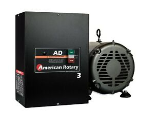 Rotary Phase Converter Ad3 3 Hp Digital Controls Heavy Duty Cnc Made In Usa