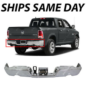 New Steel Chrome Rear Bumper Face Bar For 2009 2018 Ram 1500 With Dual Exhaust