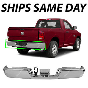 New Steel Chrome Bumper Face Bar For 2009 2018 Ram 1500 W out Dual Exhaust 09 18