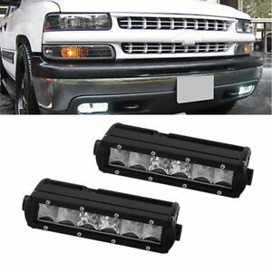 Led Light Bar For Chevy 1500 2500 3500 Tahoe 7 8 Inch Single Row
