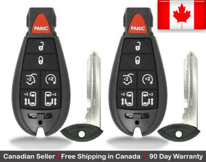 2x New Keyless Entry Remote Key Fob For Chrysler Dodge Volkswagen Caravan