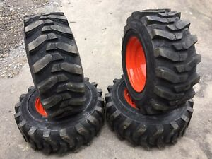 12 16 5 Hd Skid Steer Tires wheels rims For Bobcat A300 a770 s750 s770 s850